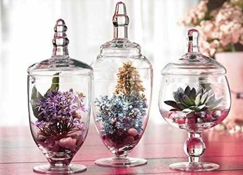 frascos cristalinos del boticario del vidrio de palais - co