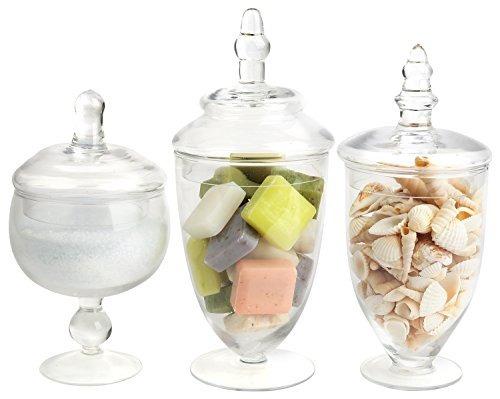 frascos de boticario mantello pequeños de vidrio
