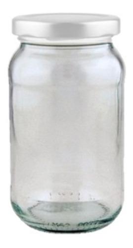 frascos de vidrio 200cc nuevos con tapa metálica 24 unidades