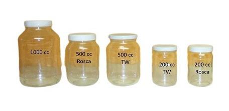 frascos de vidrio 500 cc con tapa plástica caja