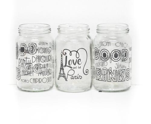 frascos decorados con vinilos souvenirs vasos