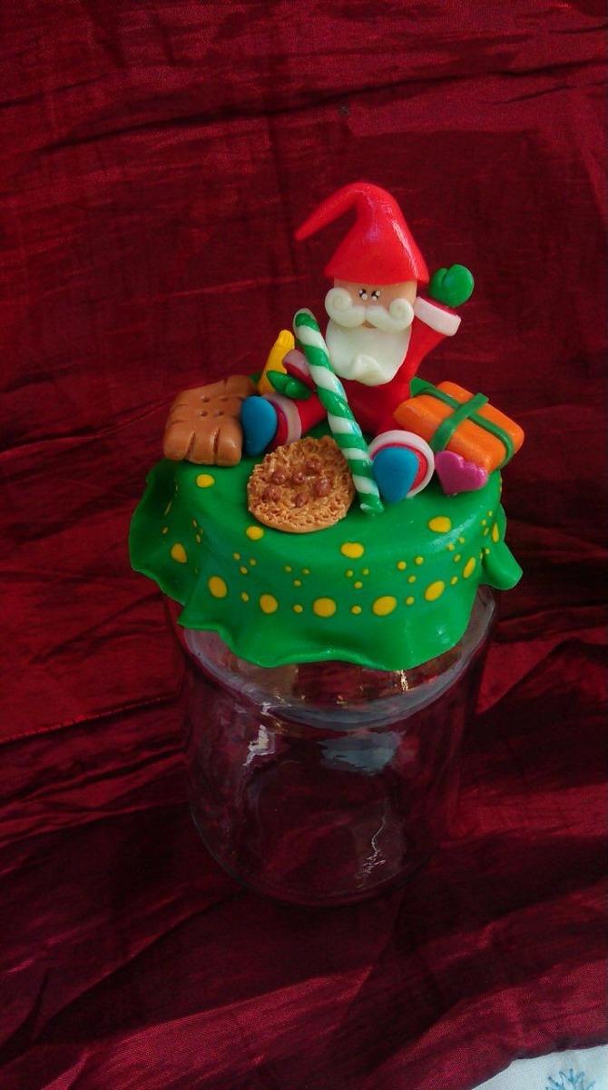 Frascos decorados de navidad regalo bombonera decoracion for Frascos decorados para navidad
