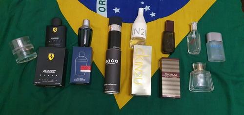 frascos perfumes vacios importados! en sus cajas!!