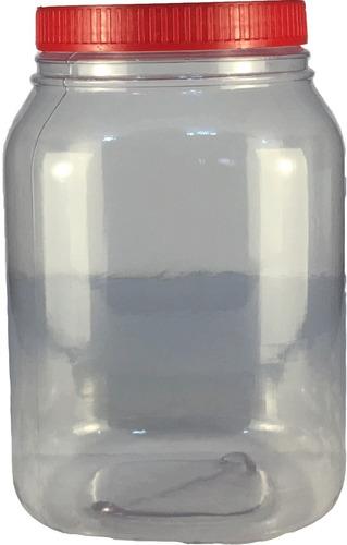 frascos plasticos 3000 cc con tapa x 4 unidades