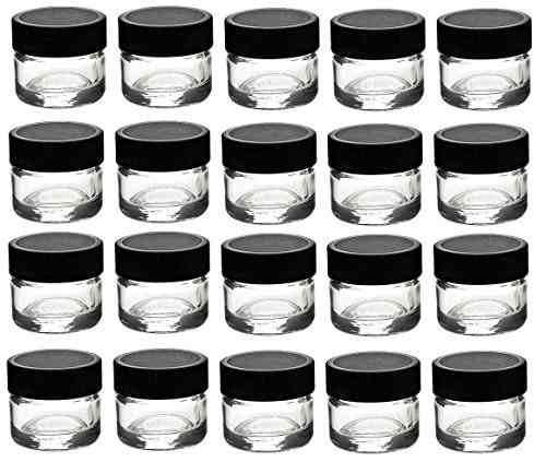 frascos premium 24 piezas frascos concentrados de vidrio con