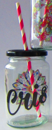 frascos + tapa perforada + sorbete vasos