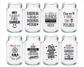 Frascos Vasos Personalizados Frases Vinilo