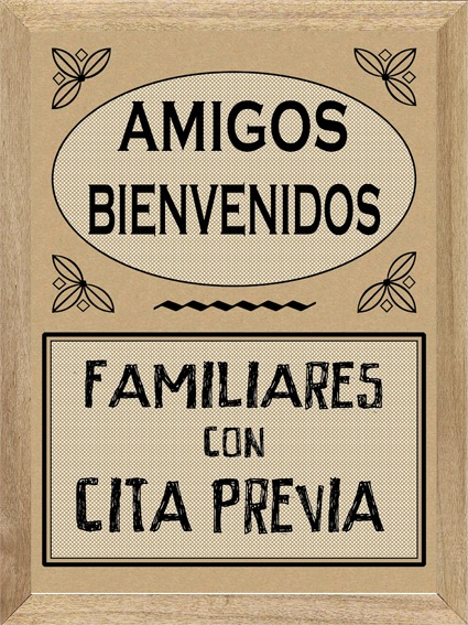 Frases Amigos Bienvenidos Cuadro Cartel Póster M350