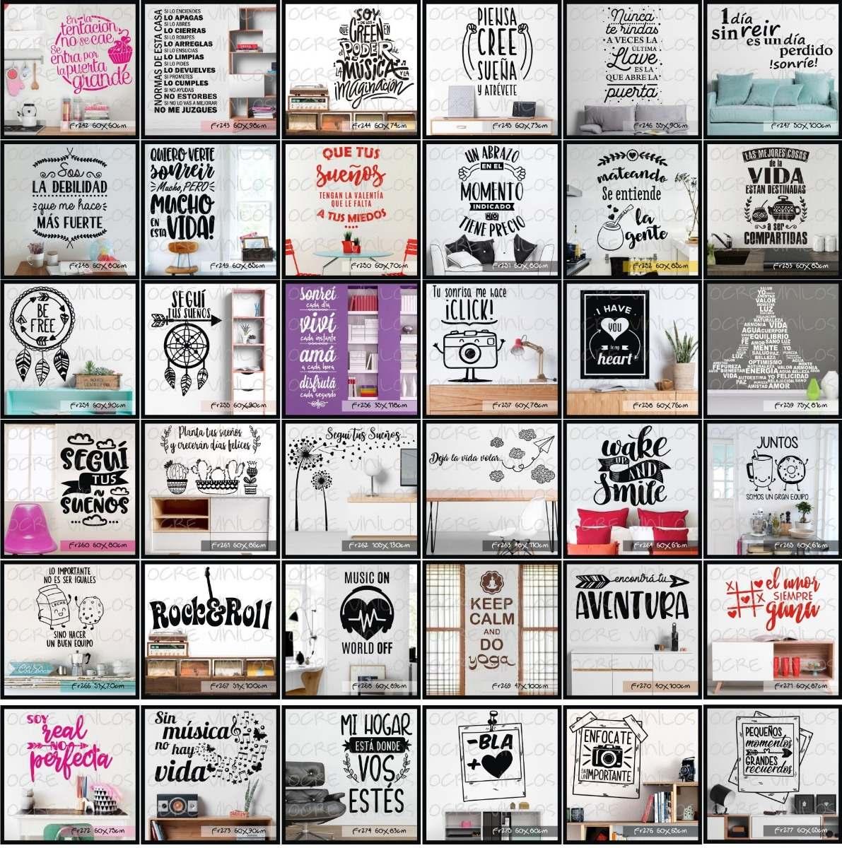 Frases En Vinilo Decorativo 300 Diseños Envio Gratis