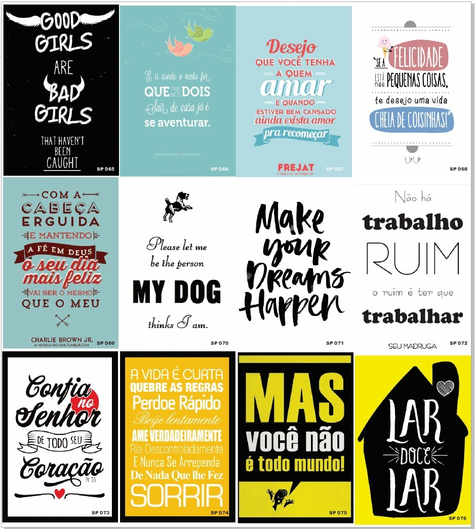 Quadros Decorativos Frases Motivacionais Frases Divertidas R 9