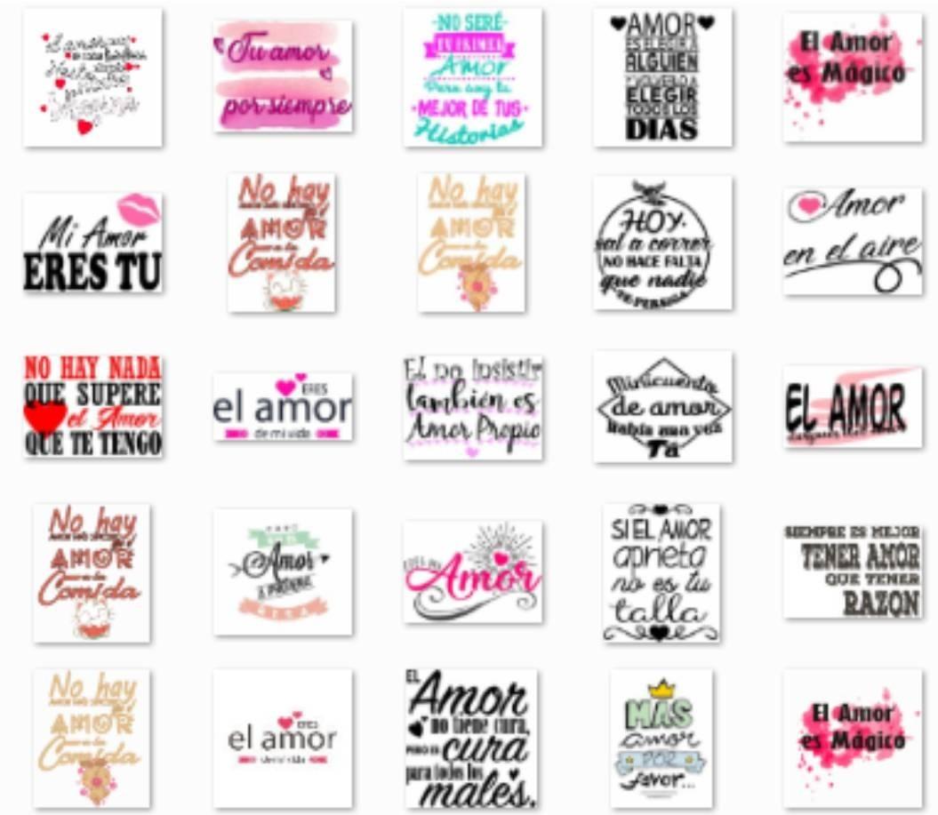 Frases Multiusos Amor Pareja Novios Amistad Vectores Imagen