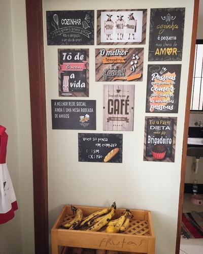 frases para cozinha - placas decorativas mdf - 30x20cm