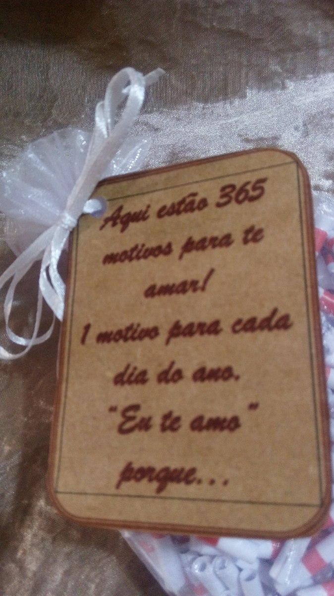 Frasespergaminhos 365 Motivos Para Te Amar No Saquinho R 3950