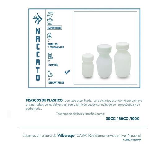 frasquitos de plástico de 100 cc (diversos usos)