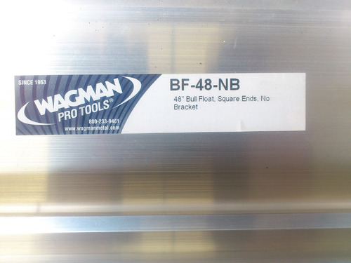 fratacho de aluminio bf-48 wagman enclosed 200mm