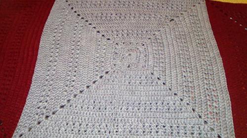 frazada 2 plazas. crochet.
