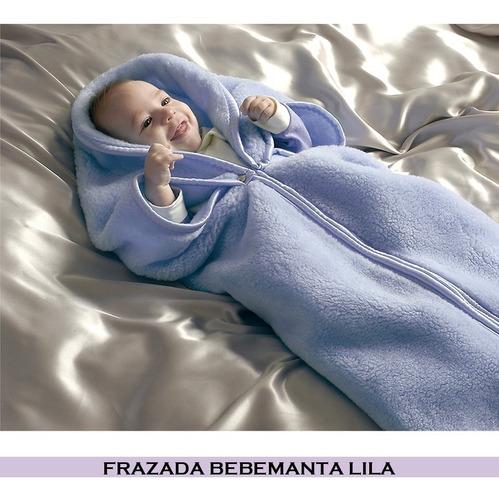 frazada bebe manta con cierre y botones