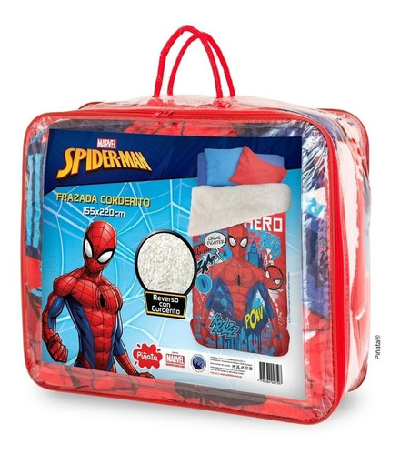frazada corderito 1½ plaza infantil disney piñata mundomania