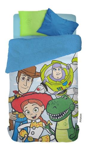 frazada corderito infantil piñata 1 1/2 plazas personajes disney pixar y muchos más
