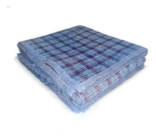frazada de lana escocesa 1 plaza económica por mayor
