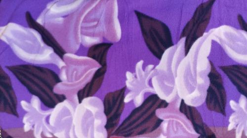 frazada manta polar 2 plazas, cotton flor. mi casa