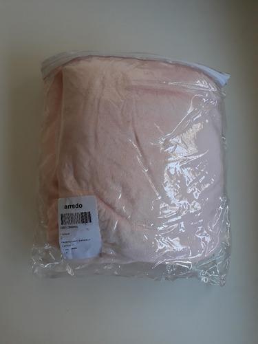 frazada polar de cuna arredo rosada nueva