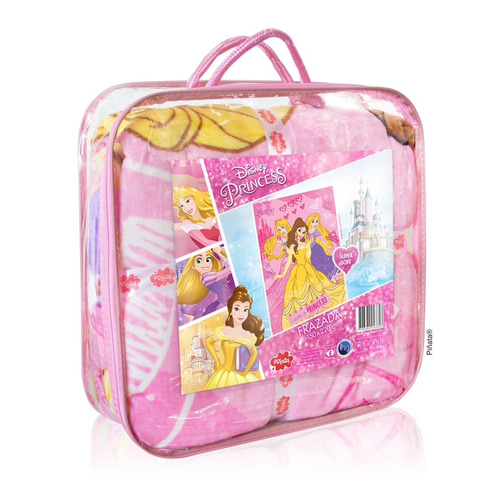frazada princesas pink  disney frazada flannel princesa pink