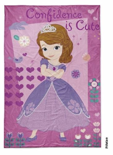 frazada princesita sofia simil piel, original piñata. oferta