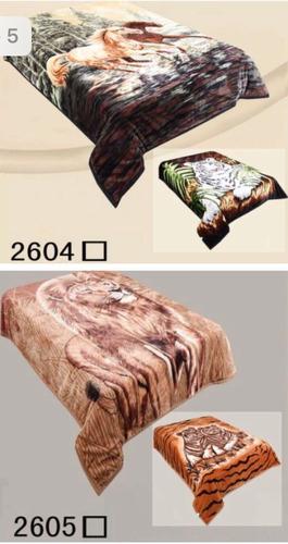 frazada simil piel 2 1/2 plazas doble faz calidad superior !