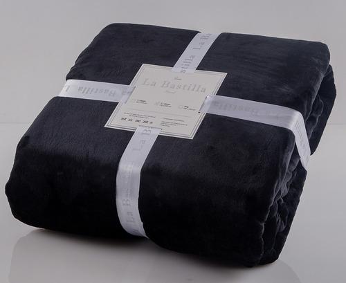 frazada soft la bastilla extra gruesa - king size - negro