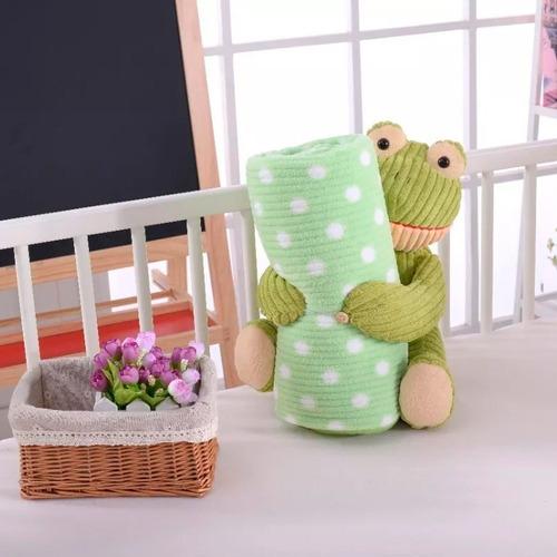 frazadas cuna funcional bebe super soft con muñeco de regalo
