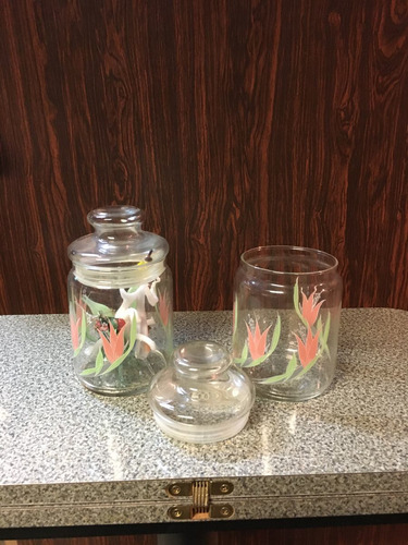 frazcos de vidrio con tapa x2