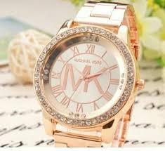 f/real c.civico reloj de metal mk - dorado y plata