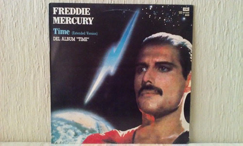 freddie mercury - time  vinilo maxi made in argentina!!!