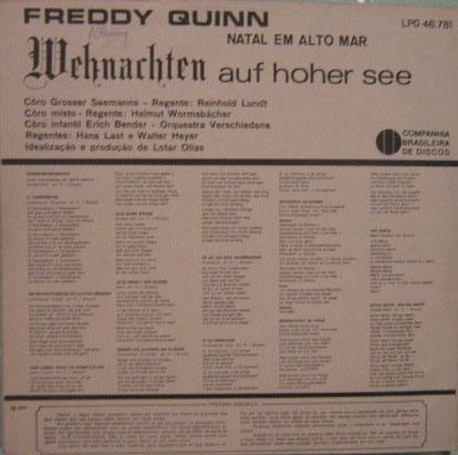 freddy quinn  -  natal em alto-mar - 1966