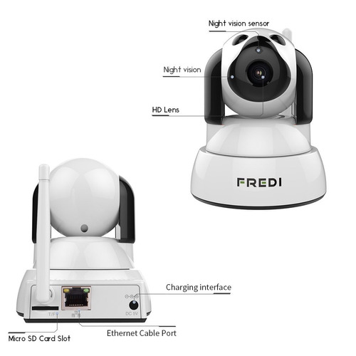 fredi camera baby monitor 720p hd wireless cámara