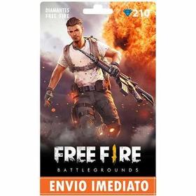 Free Fire 210 Diamantes - Recarga P/ Conta