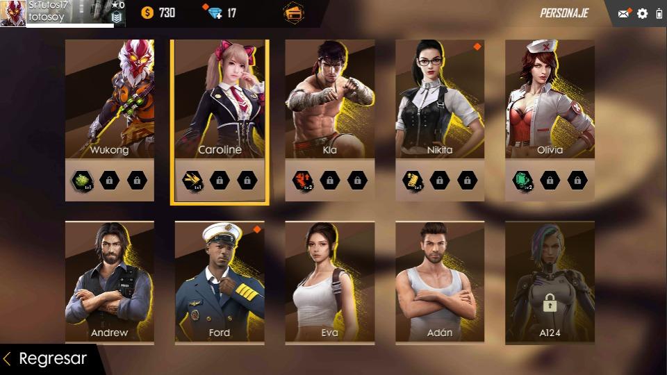 Free Fire Con Pandagato6 Personajes Etc