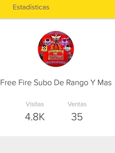 free fire subo de rango y mas