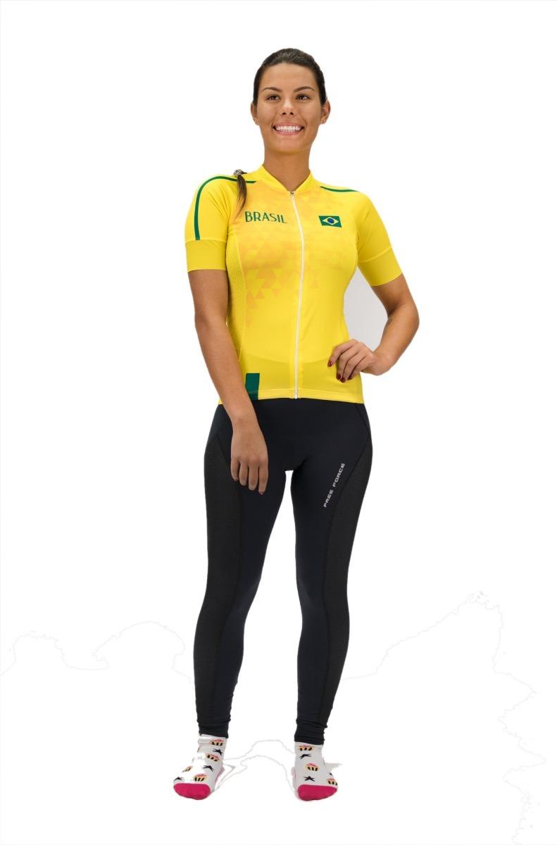 Carregando zoom... camisa ciclismo feminina free force brasil 2018 ... fe960ffb935a2