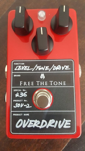 free the tone sov-2 harmonically rich overdrive pedal new!