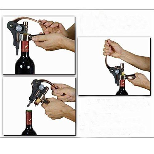 freegoing rabbit vino abrelatas de acero inoxidable botella