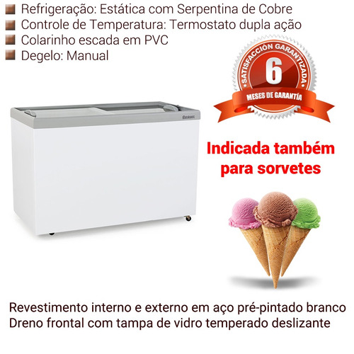 freezer 410 litros para carne gelopar porta de vidro 220v