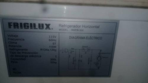 freezer congelador de 300 litros marca frigilux 110 voltios