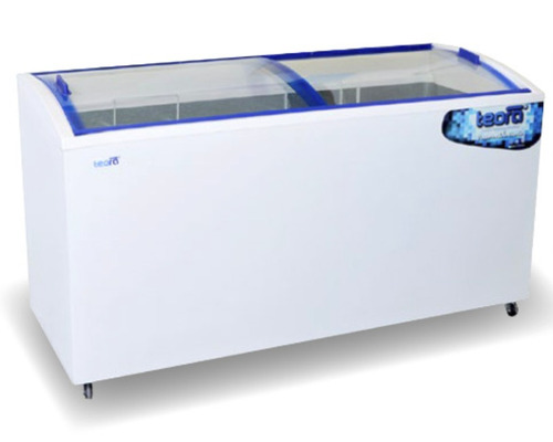freezer exhibidor 550  , plano inclinado  , tapa de vidrio