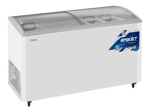freezer exhibidor helados briket eh4500 391 lts tapa cristal