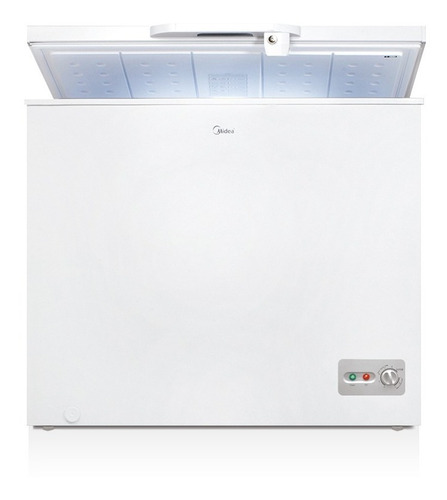 freezer horizontal midea 198 lts blanco