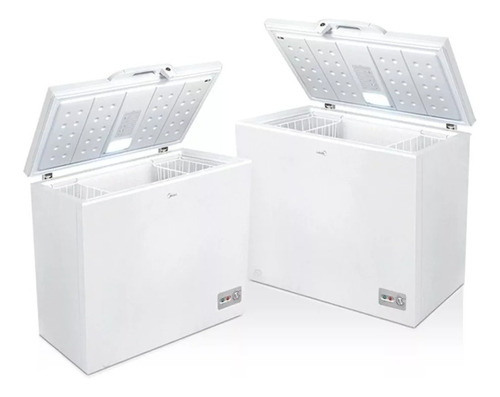 freezer horizontal midea cf-mc10war1 290 lts blanco