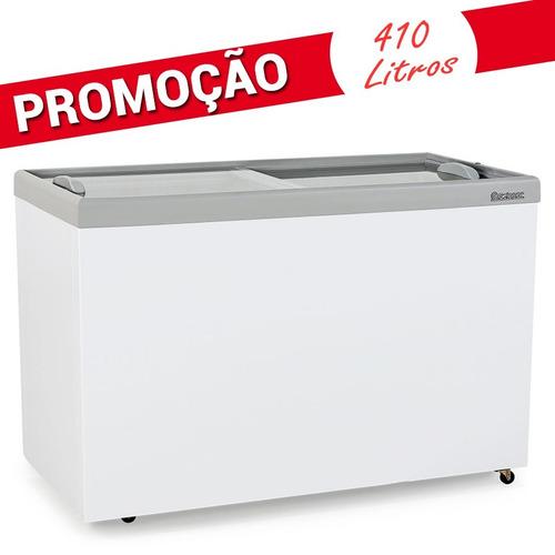 freezer para congelados refrigerada 410 l porta vidro
