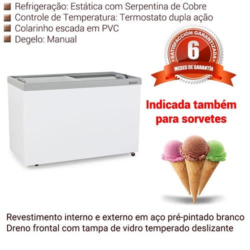 freezer para sorvete 410 l gelopar porta de vidro 220 v